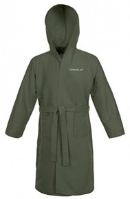 Speedo Bathrobe Microfiber Army Green