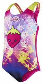 Speedo Starfizz Essential Frill 1 Piece Pink/Navy/Lime