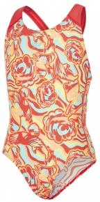 Speedo Colourmelt Allover Splashback Girl Watermelon/Fluo Orange/Spearmint