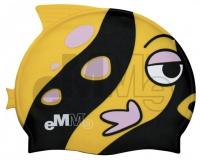 Kinder Badekappe Emme schwarz/gelb Fisch