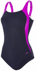 Speedo Lunalustre 1 Piece Navy/Diva