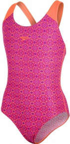 Speedo Polka Spot Allover Splashback Girl Violet/Fluo Orange/Bubblegum Pink/Post It Pink