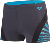 Speedo Chevron Splice Aquashort Oxid Grey/Black/Windsor Blue