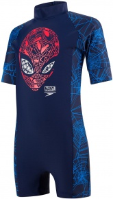 Speedo Marvel Spiderman All In One Boy Navy/Lava Red/Neon Blue