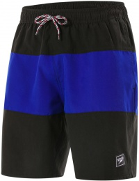 Speedo Panel Leisure 18 Watershort Black/Chroma Blue