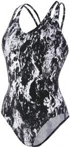Speedo LuxePool Printed 1 Piece Black/White