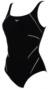Arena Jewel One Piece C-Cup Black/White
