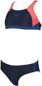 Arena Ren Two Pieces Junior Navy/Shiny Pink/Royal