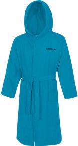 Speedo Bathrobe Microterry Blue Turquoise