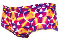 Speedo Rain Splash Flip Reverse 14cm Allover Brief Teen Lime Punch/Post It Pink/Fluo Orange
