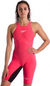 Speedo Fastskin LZR Pure Valor Openback Kneeskin Psycho Red/Black
