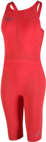Speedo Fastskin LZR Racer Element Openback Kneeskin Lava Red/Silver