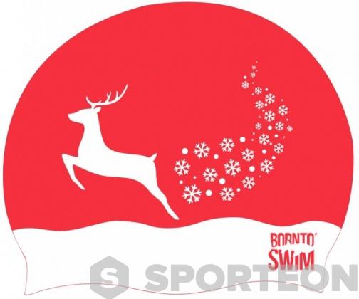 BornToSwim Snowflakes Reindeer Cap